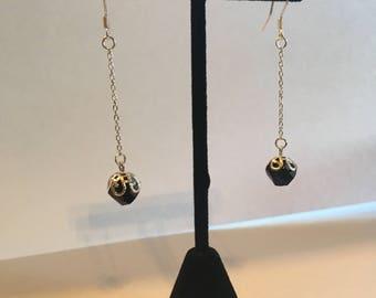 Onyx drop earring