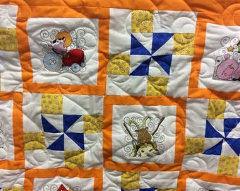 Down on the farm baby quilt