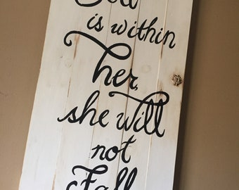Decorative Wood shutter with Bible verse