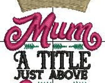 Mum A Title just above Queen