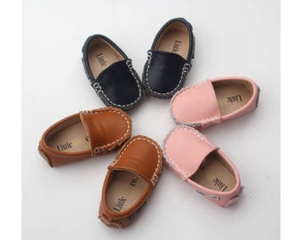 Baby Moccasins, Baby, Baby Leather Shoes, Genuine Leather Moccs, Toddler Moccasins, Baby Bow Moccasins