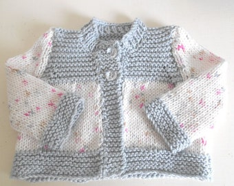 COMING SOON baby girl's cardigan in pure cotton