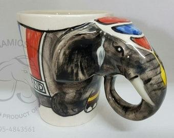 3D Thai Elephant Ceramic Mug (Type 02)