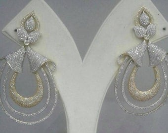 Earrings in zircon in 22K gold plating
