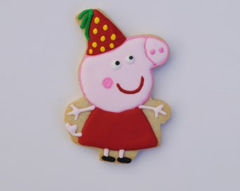Peppa pig cookie