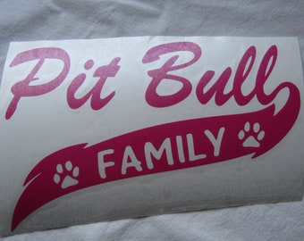 Pit Bull Family Decal