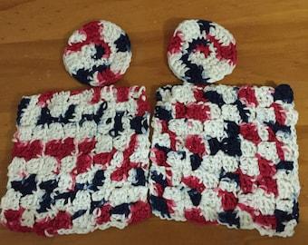Crochet washcloths and face scrubs