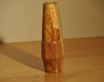 Spaltted Apple Wood  Bud Vase
