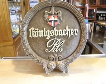 bar sign koningsbacher  round