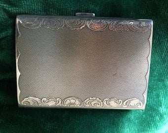 Silver Guilloche cigarette case