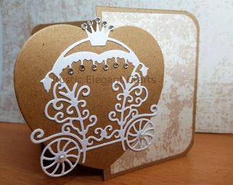 Simple, Elegant, Rustic, Princess Wedding Invitation Sample