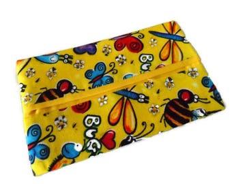 Tissue Holder, Travel Tissue Holder, Kleenx Holder, Tissue Holder with Bugs