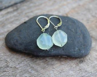Earrings : Chalcedony, Sterling silver