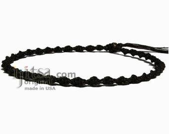 Dark Brown Soft Hemp Twisted Surfer Choker Necklace