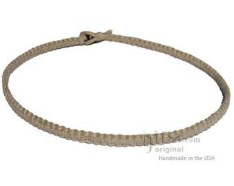 Natural Flat Hemp Surfer Necklace