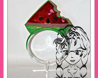 WaTERMELON PATCH PRiNCESS CRoWN ~ In The Hoop Headband ~ Downloadable DiGiTaL Machine Embroidery Design by Carrie