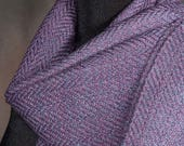 Winter scarf / purple scarf / handwoven merino wool scarf
