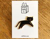 SECONDS SALE Black Cat Pin
