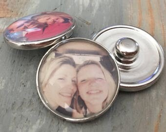 Personalized Photo Snap charm ginger snap it noosa interchangeable men women unisex gift gingersnap 18m circle metal