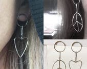 Mismatched Love&Peace Earrings