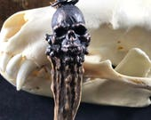 The Guardian - Dark Copper Skull, Ethically Sourced Antler