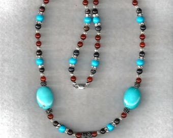 ON SALE Turquoise & Gemstone Necklace