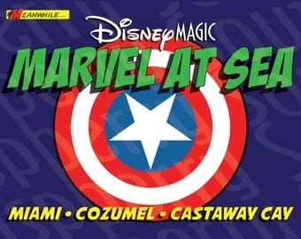 Disney Magic Marvel at Sea Cruise Magnet 5x7