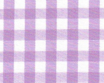 """ON SALE - 10% Off Fabric Finders 1/4"""" Lilac Lavender White Gingham Check Quilting Apparel Applique Fabric By The Yard"""