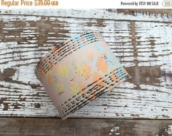40% OFF- Custom Leather Cuff-Create Your Own-Word Cuff-Hand Painted-Grafitti Collection