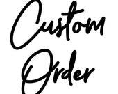 Custom Dino Soap Order for R. Hunnicutt