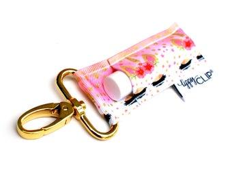 LippyClip® Lip Balm Holder for Chapstick, Burt's Bees, etc. |  Clip-On Keychain | Unicorn with Eyelashes