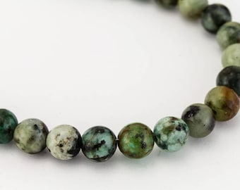 4mm African Turquoise Round Bead (45 Pcs)
