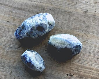 Blue Jean Stone Beads - DIY Jewelry
