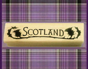 Scotland Rubber Stamp Travel Scrapbooking Crafting #429