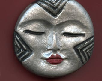 Polymer  Silver Round Textured Face Cab SLV 1
