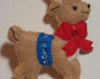 Little reindeer ornament