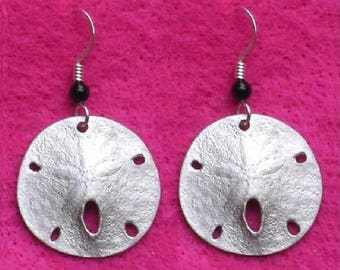 Earrings - Sand Dollar with Ear Wires
