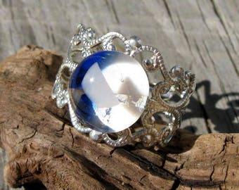 Prismatic Filigree Ring