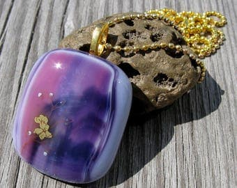Pink and Purple Waterfall Necklace