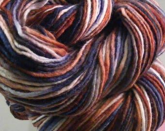 SALE... Was 8.50... Now 6.00...MOON RIVER...handspun, handpainted wool yarn...4oz...191yd
