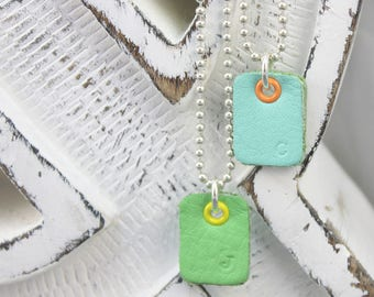 INITIAL LEATHER Necklace for kids, boys, girls