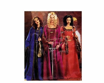 SALE Misses Medieval Dress Costumes McCalls P306 Sewing Pattern Size 6 - 8 - 10 - 12 Bust 30 1/2 - 31 1/2 - 32 1/2 - 34 UNCUT