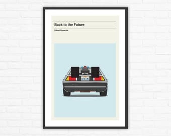 Back to the Future Minimalist Movie Poster, Robert Zemeckis