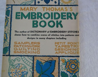 Vintge 1950s Mary Thomas's Embroidery Book Hardback