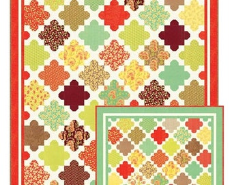 Hazel and Blooms quilt pattern from Fig Tree and Co. - layer cake or charm pack friendly