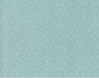Biscuits and Gravy - Hoe Your Row in Fluffer Nutter Blue: sku 30489-19 cotton quilting fabric by BasicGrey for Moda Fabrics