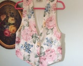 love letters in the garden vintage floral rose vest