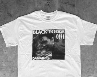 Black Lodge Damaged : TP / BF Tee Shirt