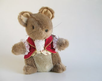 Vintage The Tailor of Gloucester Mouse Stuffed Animal Beatrix Potter Eden Toys Plush Peter Rabbit 1980s Toy