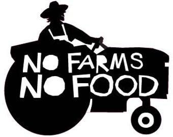 no farms no food tractor bumper sticker